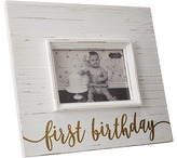 Mud Pie First Birthday Gold Frame Accessories Travel