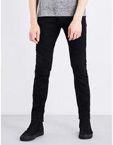 The Kooples Biker-detail skinny jeans