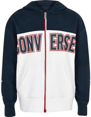 Converse Boys navy zip hoodie