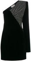 Saint Laurent velvet asymmetrical mini dress