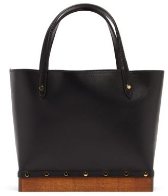 Altuzarra Clog Small Studded Leather Tote Bag - Womens - Black