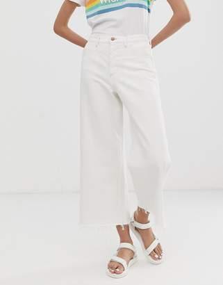 Wrangler cropped flare jean-White
