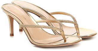 Gianvito Rossi India 70 leather thong sandals