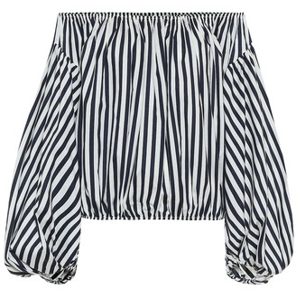 Caroline Constas Andros striped stretch-poplin top