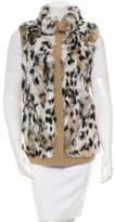 Jocelyn Fur-Trimmed Knit Vest w/ Tags
