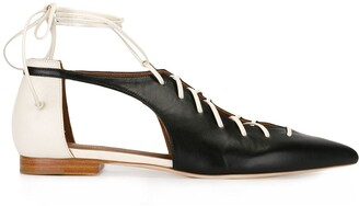 Malone Souliers Lace-Up Ballerinas