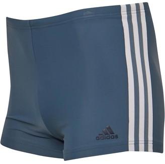 adidas Mens 3-Stripes Swim Boxers Legend Blue/Legend Ink