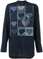 J.W.Anderson appliqué heart denim shirt
