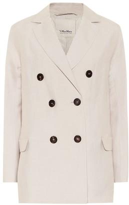 S Max Mara Oronte linen-blend blazer