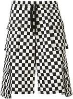 Ports V checkered cargo shorts