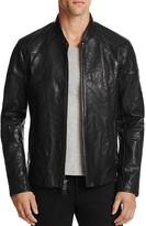 John Varvatos Collection Waxed Leather Motocross Jacket