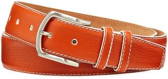 W.KLEINBERG Men's South Beach Pebbled Leather Belt