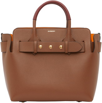 Burberry Small Belt Triple Stud Leather Tote