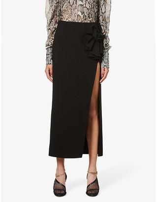 Magda Butrym Corsage-detail high-rise stretch-wool maxi skirt
