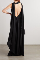 TOM FORD - Open-back Cape-effect Jersey Gown - Black