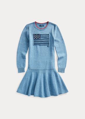 Ralph Lauren Intarsia-Flag Cotton Dress