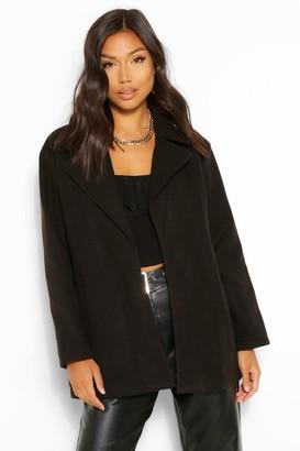 boohoo Oversized Collared Wool Look Coat