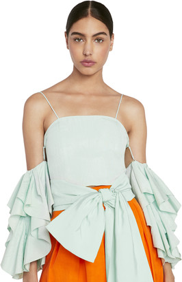 Alice + Olivia Nakia Cold Shoulder Crop Top