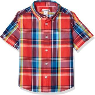 Amazon Essentials Short-sleeve Poplin/Chambray Shirt Button