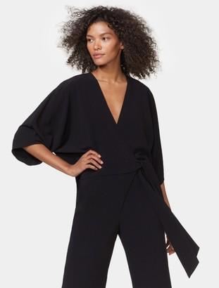 Halston Kimono Wrap Jumpsuit