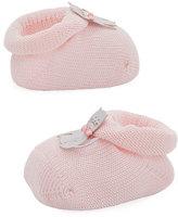 Story Loris Kitty Cat Knit Booties, Light Pink, Infant