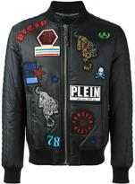 Philipp Plein badge appliqués bomber jacket
