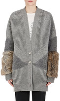 Stella McCartney Women's Fur-Free Fur Virgin Wool Cardigan