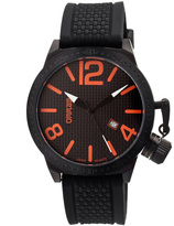 Breed Black & Orange Falcon Swiss Watch