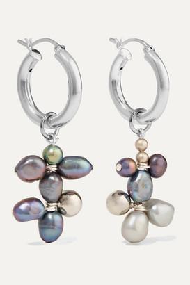 Mounser Silver-tone Pearl Earrings - Gray