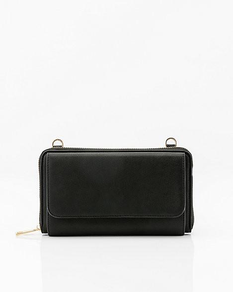 Le Château Faux Leather Crossbody Wallet