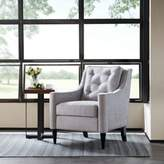 Madison Park Adaline Rolled Arm Accent Chair in Silver
