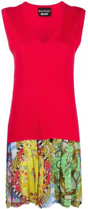 Boutique Moschino Panelled Pleated Dress