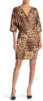 Velvet Torch Surplice Neck Mini Dress