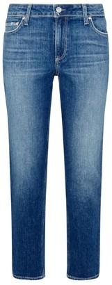 Paige Brigitte Rolled Straight-Cut Jeans