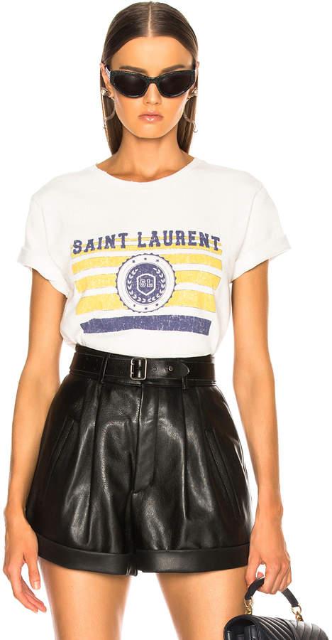 Saint Laurent Logo League Tee