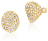 LeVian 14K Honey Gold Disc Earrings with Vanilla Diamonds