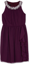 Amy Byer Embellished Ruffled Dress, Big Girls (7-16)