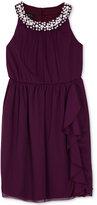 BCX Embellished Ruffled Dress, Big Girls (7-16)