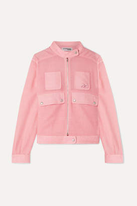 Courreges Checked Linen Bomber Jacket - Pink