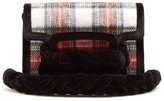 Miu Miu Braid-embellished tartan cross-body bag