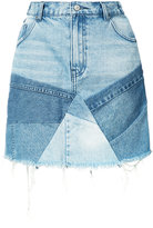 PRPS patchwork denim skirt - women - Cotton - 24