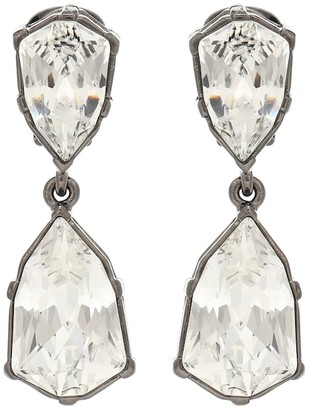 Oscar de la Renta Gallery embellished clip-on earrings