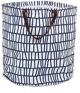FUNNYGO Large Storage Bin ,Ramie Cotton/ Canvas Fabric Folding Storage Basket With Handles- Toy Box/ Toy Storage/ Toy Organizer for Boys and Girls - Laundry Basket/ Nursery Hamper