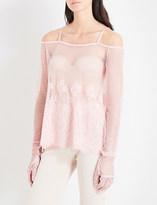 Fenty X Puma Cold shoulder mesh top