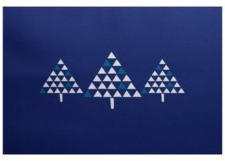 The Holiday Aisleâ® Christmass Tree Flatweave Blue Rug The Holiday AisleA Rug Size: Rectangle 2' x 3'