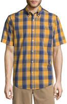 ST. JOHN'S BAY St. John's Bay Short Sleeve Plaid Button-Front Shirt