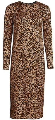Andamane Beulah Leopard-Print Midi Dress