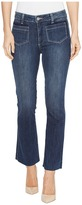 Paige Colette w/ Patched Shadow Pocket and Raw Hem in Donna Women's Jeans