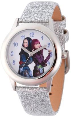 Disney Girl' Diney Decendant 2 Evie and Mal Tween tainle teel Watch - ilver