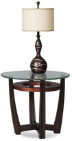 Bassett Mirror Elation Round End Table, Copper Ring